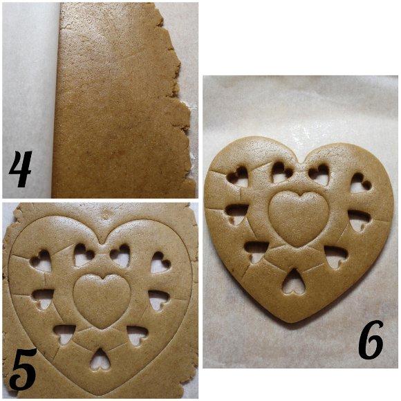 procedimento Biscottone a forma di cuore avena sciroppo d'acero e cannella vegan