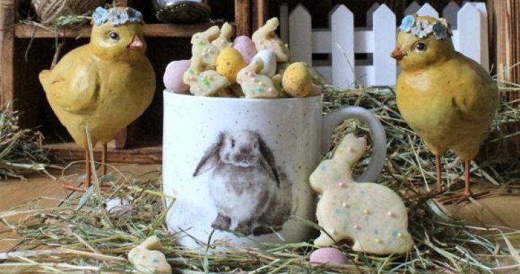 Cereali coniglietto con confettini di zucchero a tema Pasquale