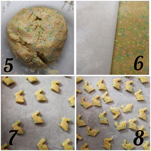 preparazione Cereali coniglietto con confettini di zucchero a tema Pasquale