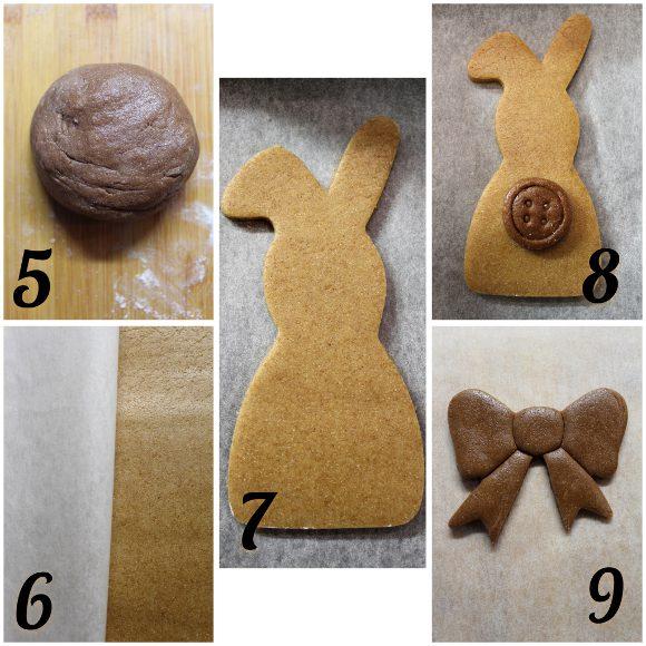 procedimento Biscotti a forma di coniglietto in formato maxi senza uova senza lattosio senza burro