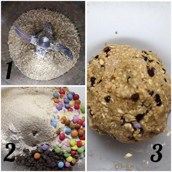 procedimento Cereali monster cookies senza uova