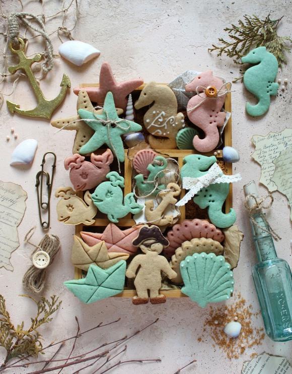 Summer cookie box: scatola di biscotti estiva senza uova senza burro