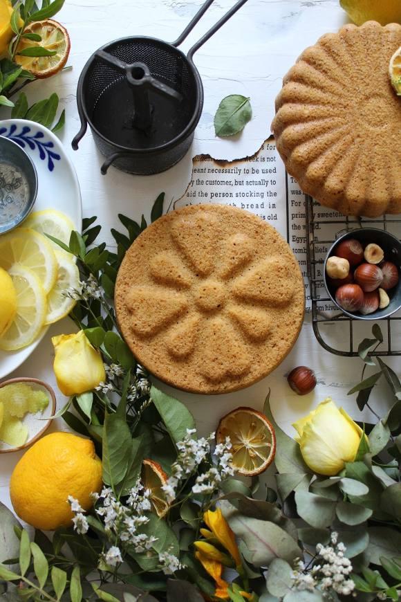 torta limone e nocciole vegana