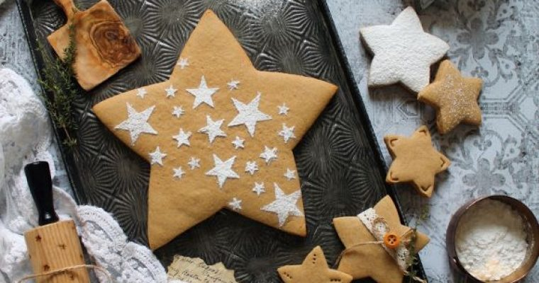 Biscotti stella al caffè senza uova senza burro