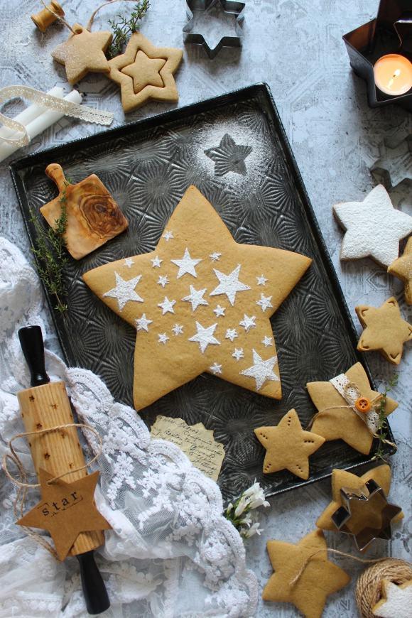 Biscotti stella al caffè