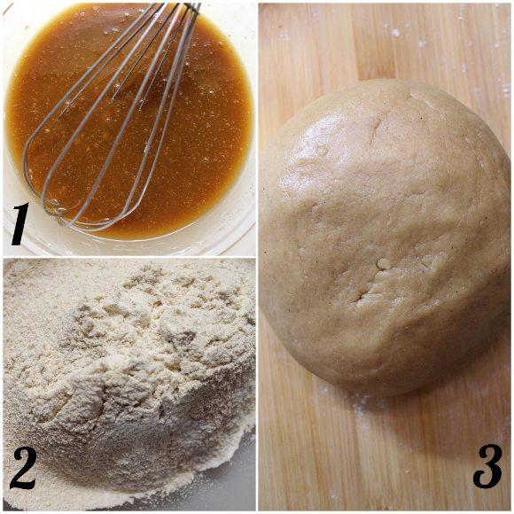 preparazione Biscotti stella al caffè senza uova senza burro