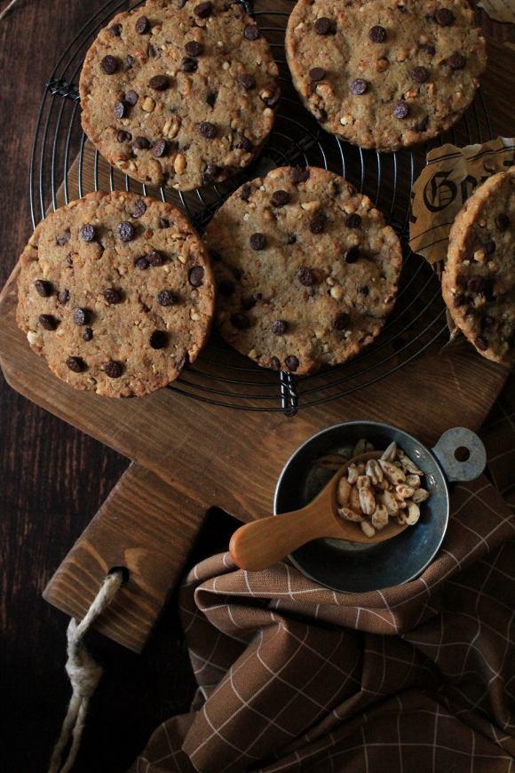 Cookies con gocce di cioccolato latte senza lattosio senza uova senza burro