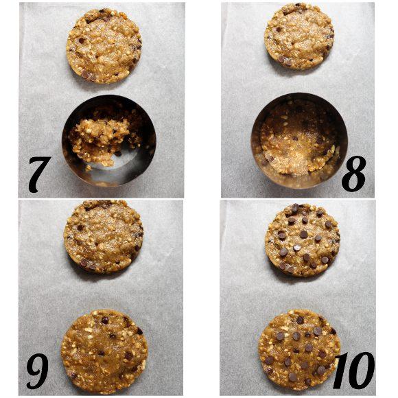 procedimento Cookies farina di orzo gocce di cioccolato e orzo soffiato con latte senza lattosio senza uova senza burro