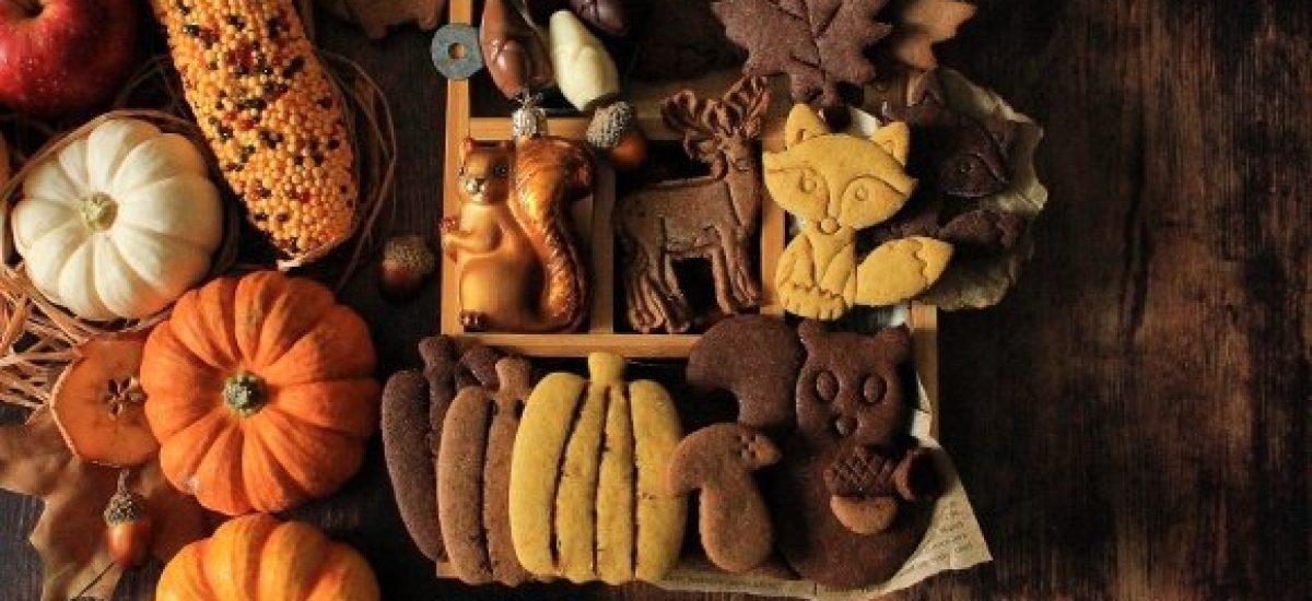 Autumn Cookie box: scatola di biscotti autunnale senza uova senza burro