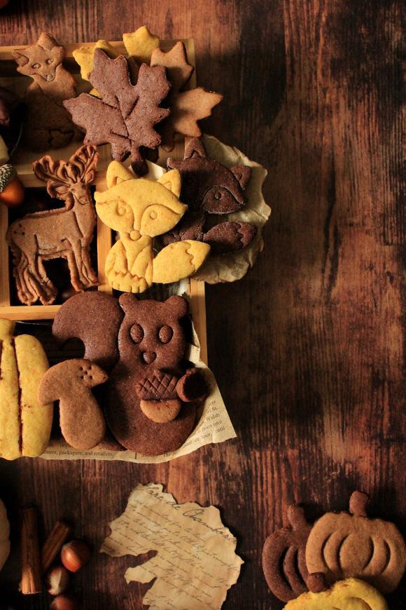 cookie box a tema autunnale