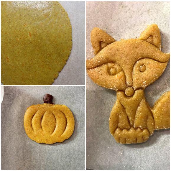 panetto zucca per la preparazione della cookie box