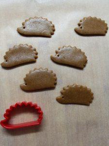 preparazione biscotti riccio