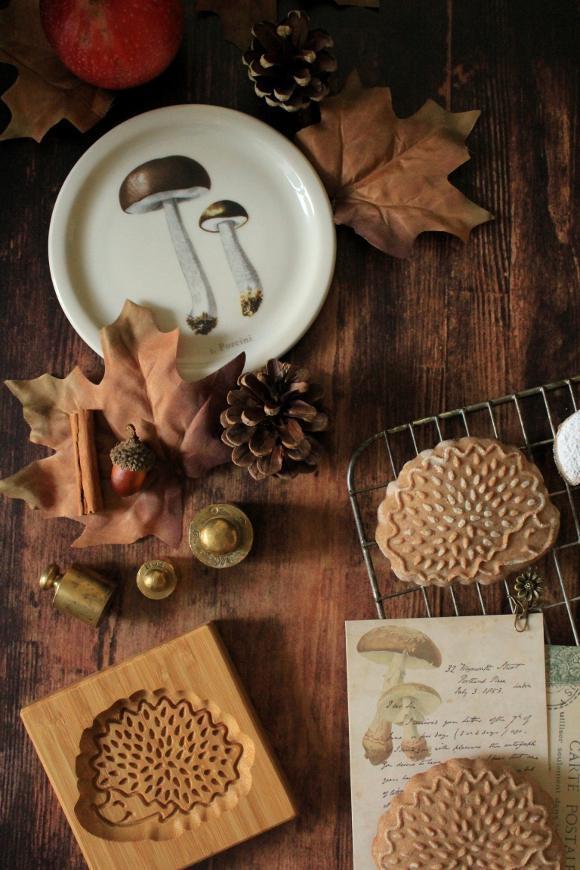 biscotti autunnali a forma di riccio