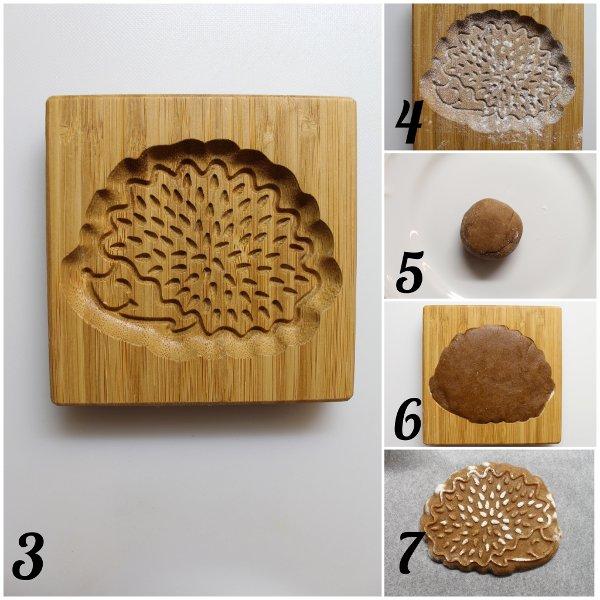 procedimento Biscotti a forma di Riccio alla castagna con miele di castagno senza uova senza burro