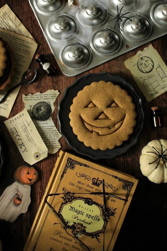 Biscottoni alla zucca di halloween senza uova senza burro