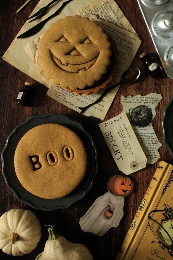 Biscotti giganti alla zucca di halloween