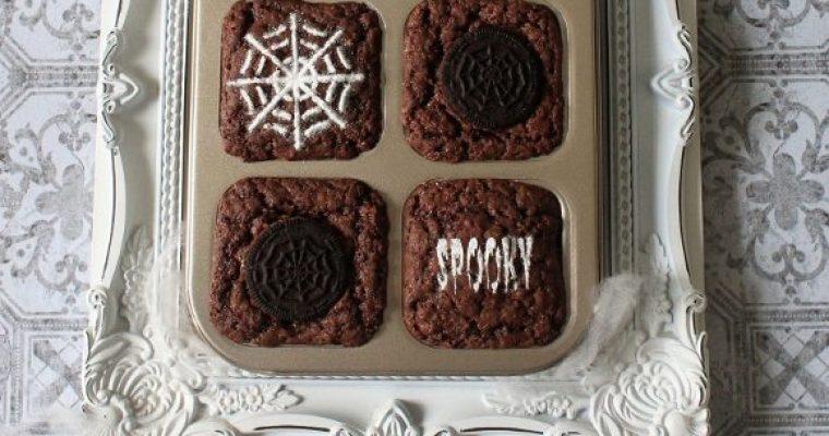Brownies di Halloween al cioccolato senza uova